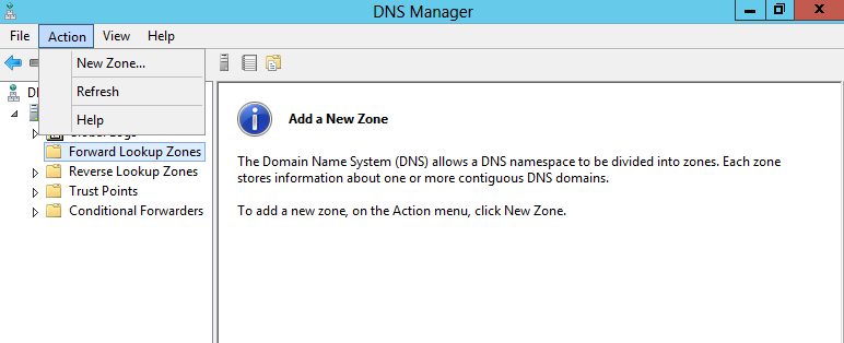 DNSSEC signing a zone with Windows Server 2012
